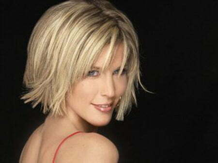 Short Blonde Hair With Bangs Archives Short Haircut Com