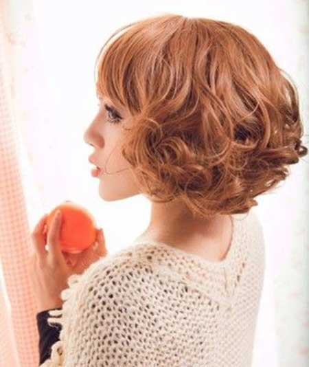 Lovely Bob Cut with Curly Fringe