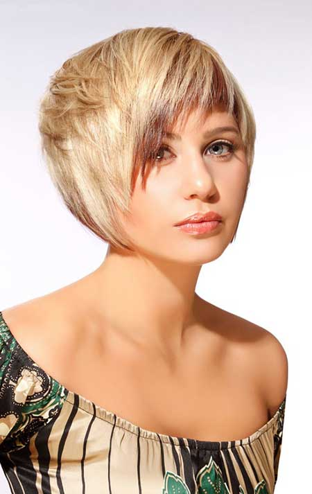 Lovely Bob Cut with Jagged Bangs