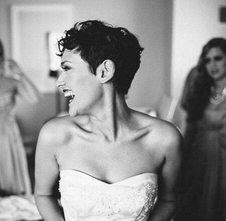 Lovely Curly Pixie Cut