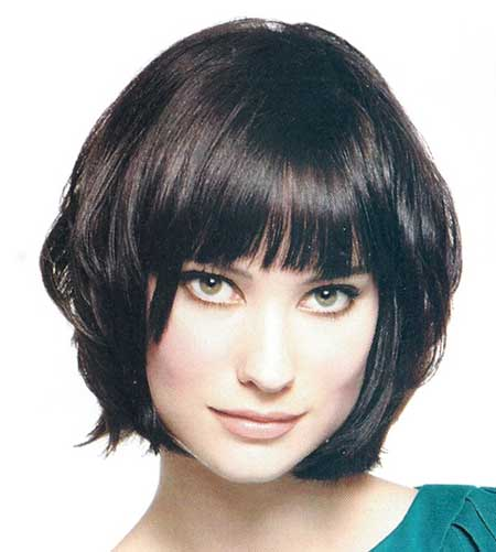 Lovely Layered Black Hair Bob Hairstyle
