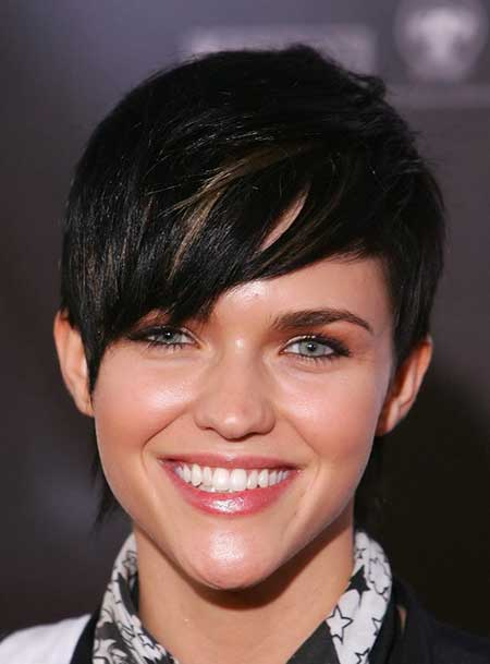 Lovely Pixie Cut with Hues of Brown