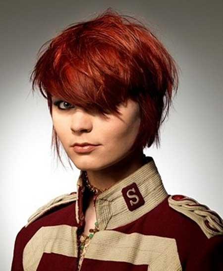 Lovely Reddish Messy Hairstyle