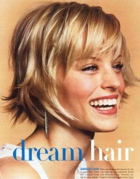 Lovely And Glamorous Flip Out Bob Cut