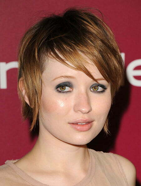 Messy Fine Strands of Copper-colored Bob Cut