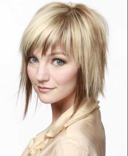 Natural Blonde Asymmetrical Bob Hairstyle