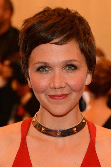 Nice and Cool Pixie Cut by Maggie Gyllenhaal