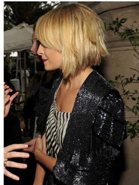 Nicole Richie Short Blonde Hairstyle