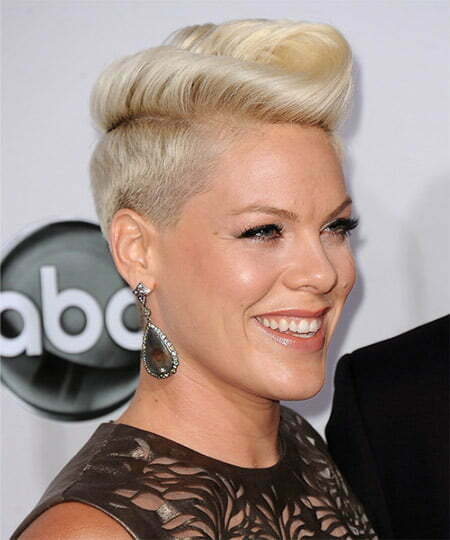 Pink's Awesome Ruffled Pixie Cut