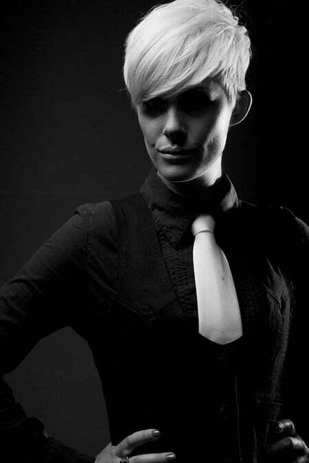 Platinum Blonde Pixie Cut