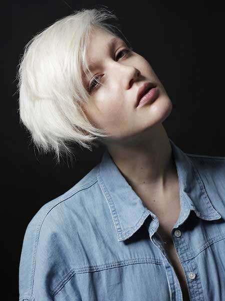 Platinum Blonde Short Hairstyle