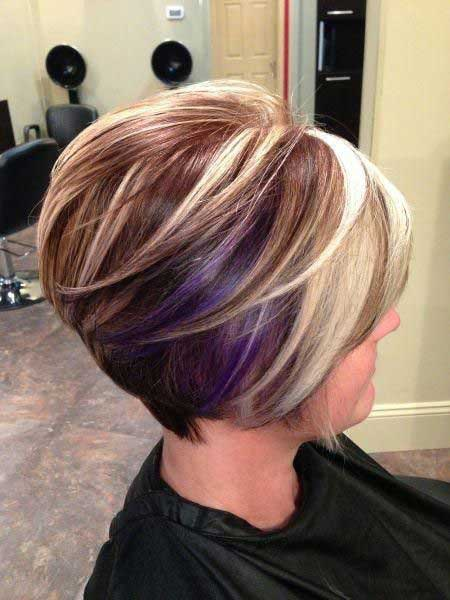Short hairstyles for older women short hairstyles for older women - Short Purple Ombre Hair Short Hairstyles 2016 2017