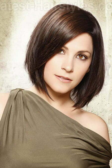 A Line Bob Hairstyles Medium Length Hair