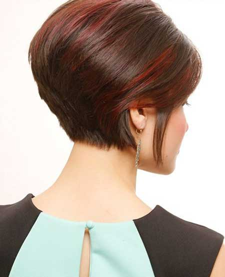 Rounded Cut Back Hairstyle