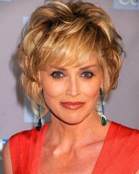 Sharon Stone short hair 2013