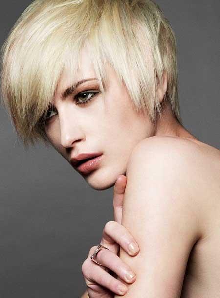 Short Asymmetric Hair
