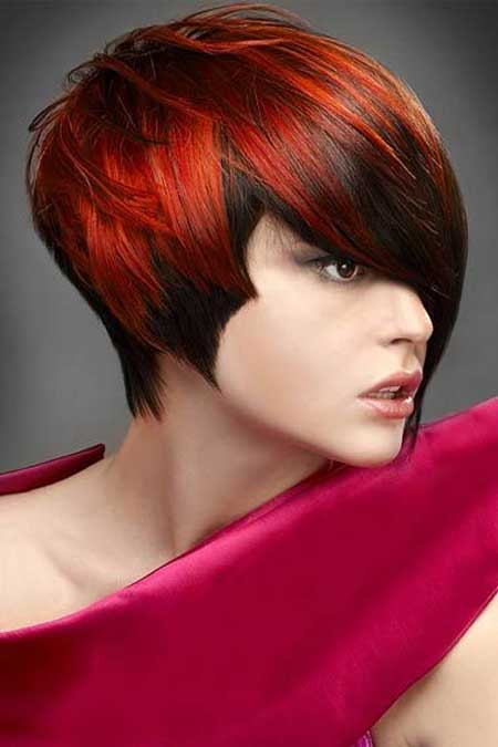 Short Asymmetric Textured Haircut