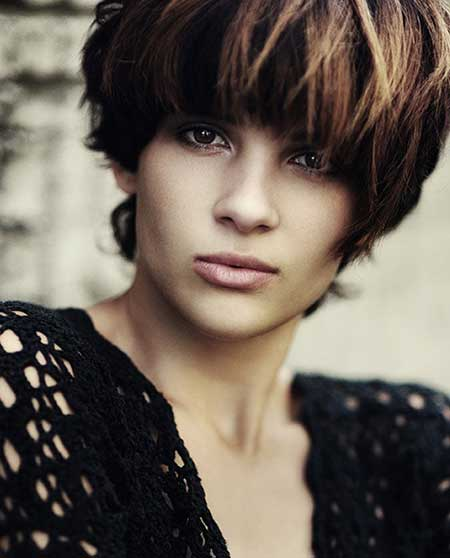 Short Black Hairstyle with Tinges of Blonde and Brown