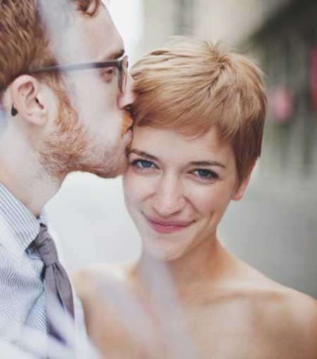 Short Blonde Haircuts for Bridals