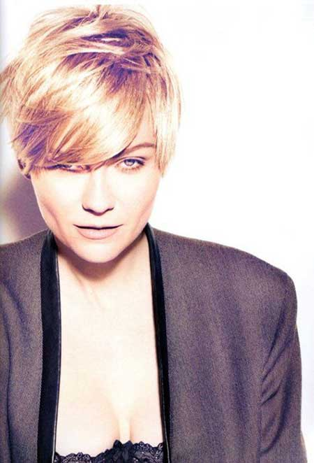 Short Blonde Pixie Haircut