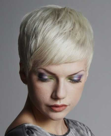 Short Blonde Pixie Look