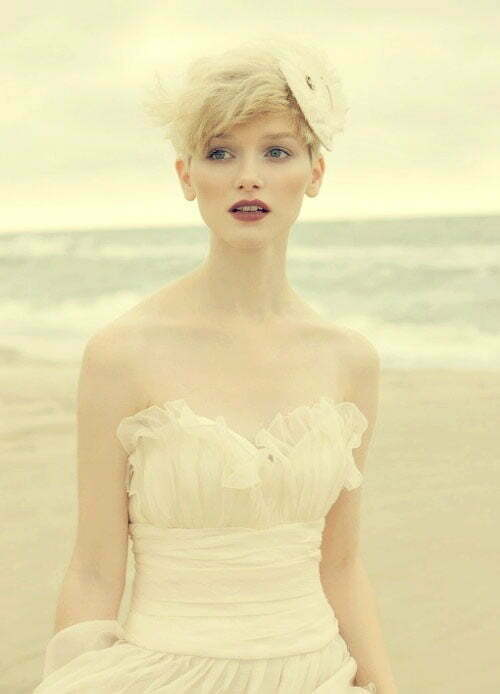 Blonde Short Hair Wedding Styles