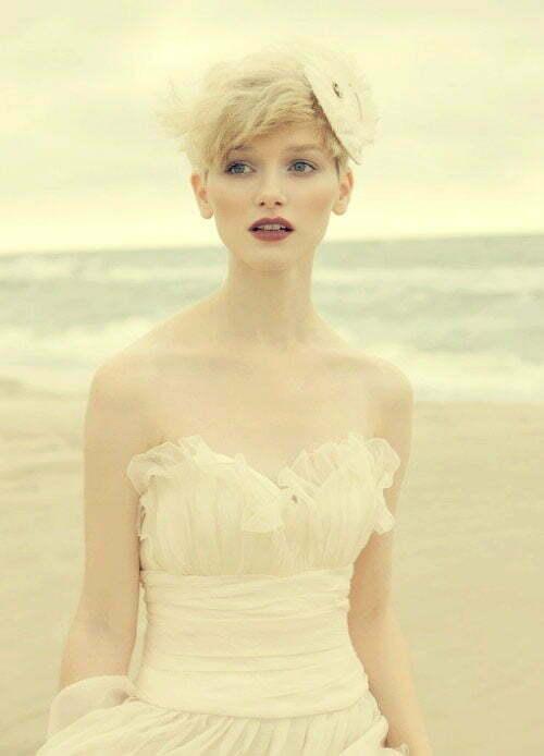 Blonde Short Hair Wedding Styles