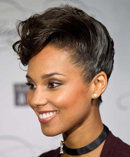 Short Brushed-up Hairstyle