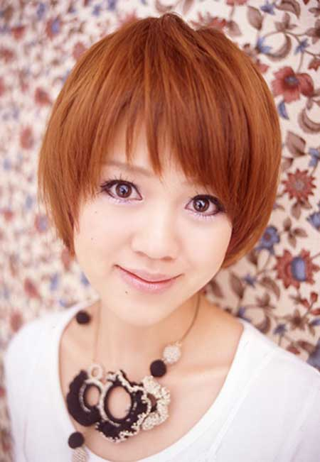 Short Copper-colored Bob Hairstyle
