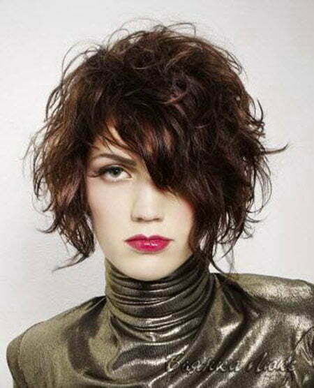 Short Curly Asymmetrical Haircuts