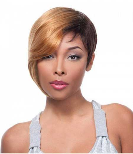 Short Cut Cap Weave Hairstyle