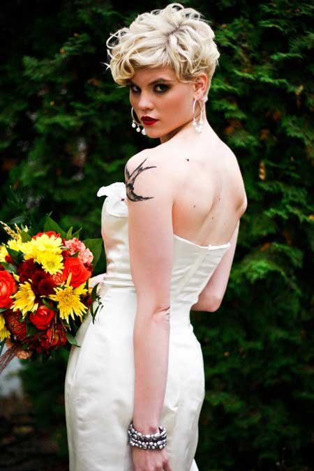 Short Haircuts for Brides-6