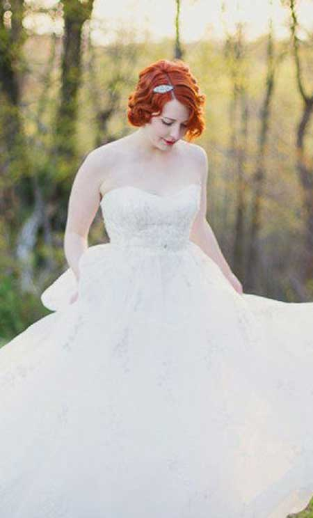 Short Hairstyles for Bridals