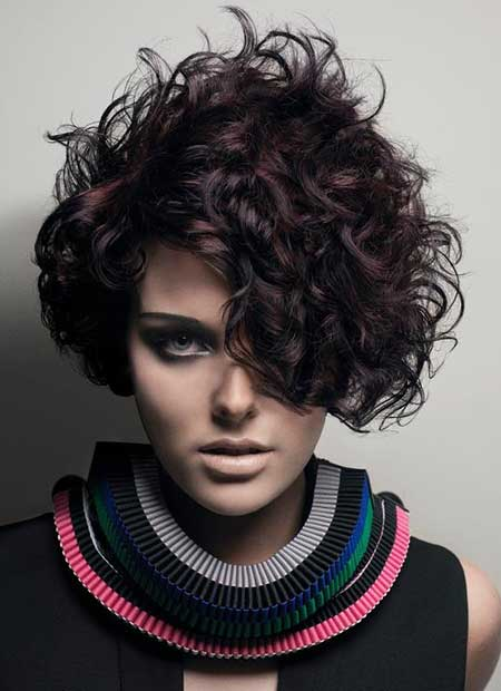 Short Messy Curly Haircut