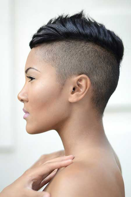 Short mohawk hairstyles for black women