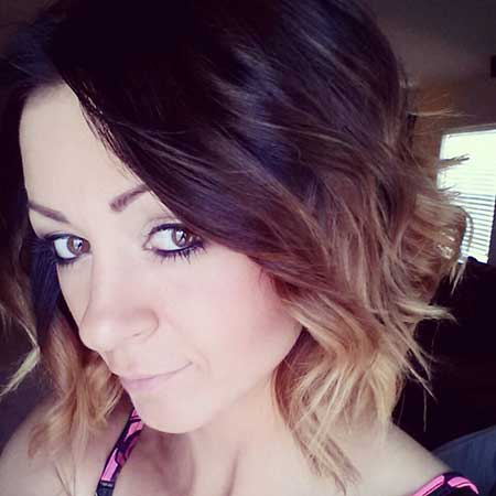 Short Ombre Messy Hairstyle