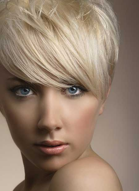 Short Platinum Haircut