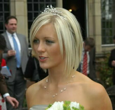 Short Straight Wedding Hairstyles