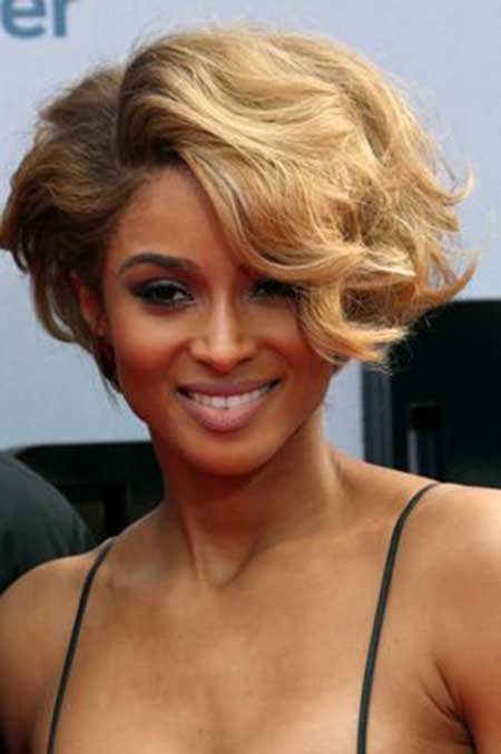 Short Wavy Bob Hairstyle for black women