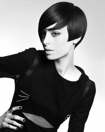 Sleek Geometric Hairstyle