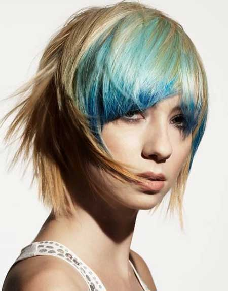 Soft Blonde Hairstyle with Tinge of Blue