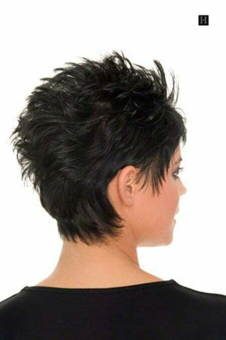 back view of short haircuts short hairstyles 2017 2018 most popular short hairstyles for 2017. Black Bedroom Furniture Sets. Home Design Ideas