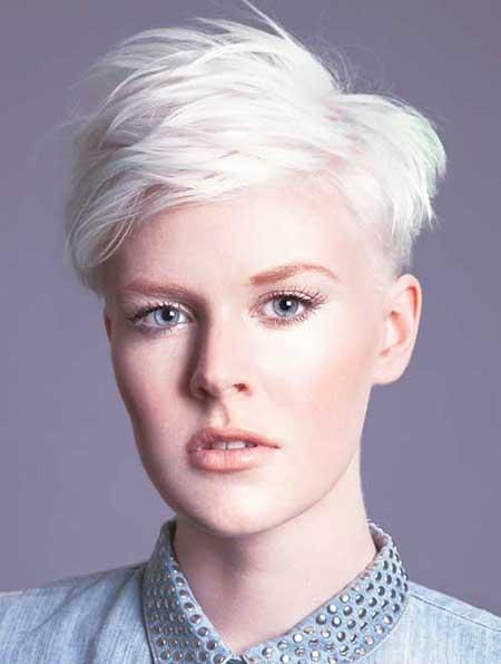 Spiky Blonde Pixie Cut