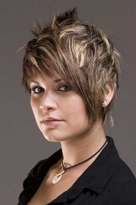 Spiky Pixie Cut with Blonde Highlight