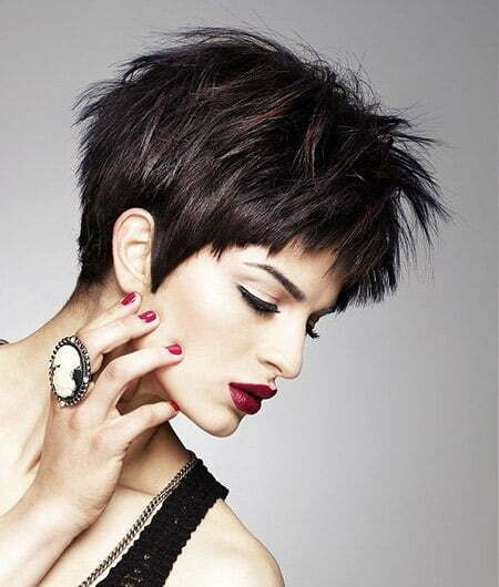 Trendy Pixie Cut with Spiky Top