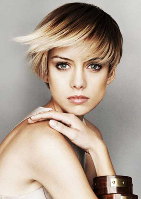 Typical Bob Hairstyle with Jagged Bangs