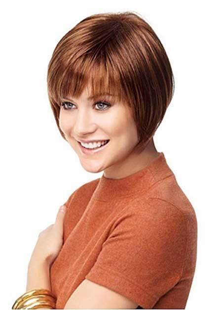 Typical Bob Hairstyle with Lovely Bangs
