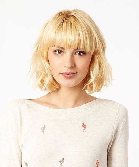 Typical Bob Hairstyle with Slight layers