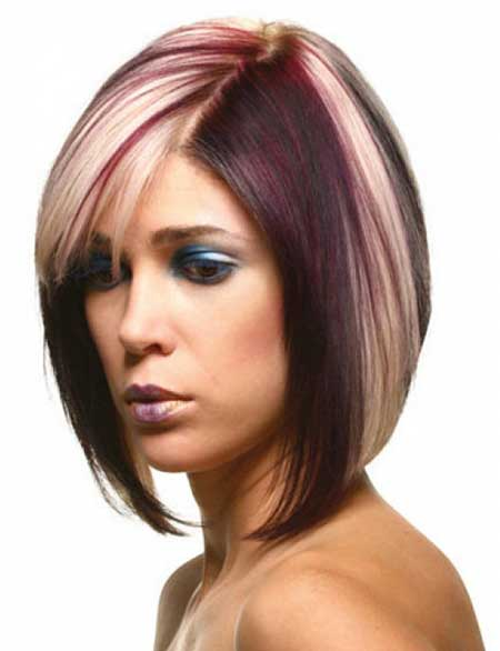 Hairstyles for Round Faces and Hair Color