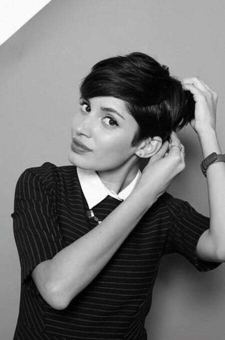 Very Charming Black Hair Pixie Cut